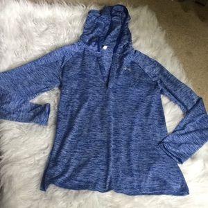 Under Armour blue heathered pullover size medium